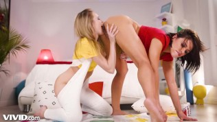 Adriana & Scarlett Lesbian Twister- Where The Boys Aren't!-VIVID